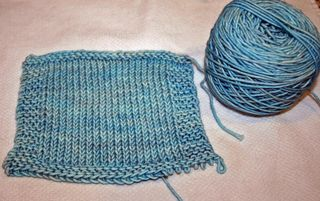 knitting gauge swatch tiny tea leaves cardigan madeline tosh vintage yarn