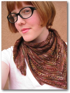 mary-heather cogar simple things hand knit scarf elliebelly yarn