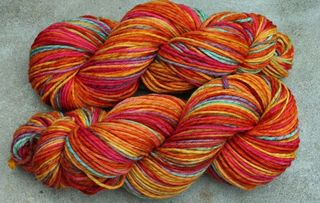elliebelly pixie merino knitting yarn orange