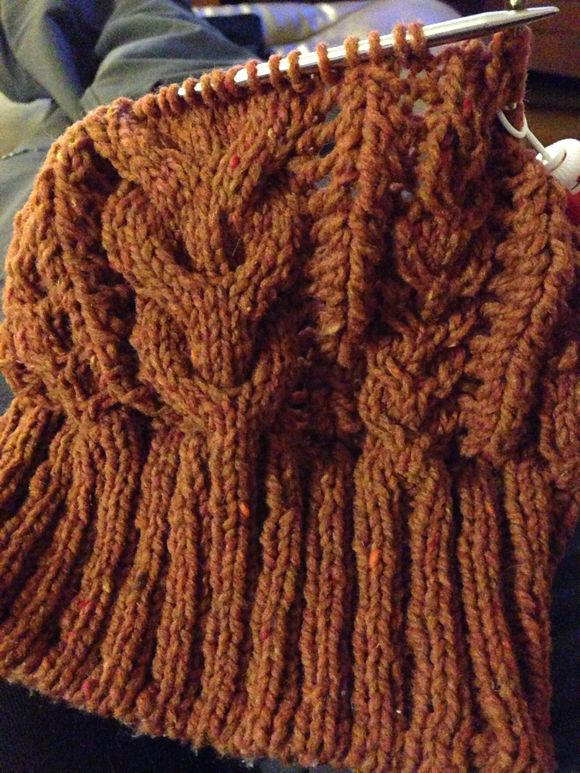 Knitting Progress: Cables, Cables, Everywhere