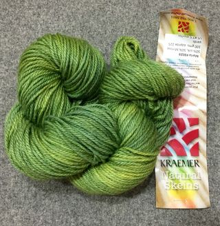 Yellow green kraemer maria silk merino