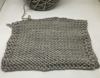 H snug worsted swatch